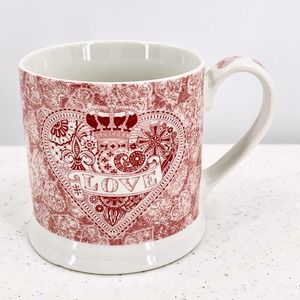 Queens Made with Love Heart Fine China Mug